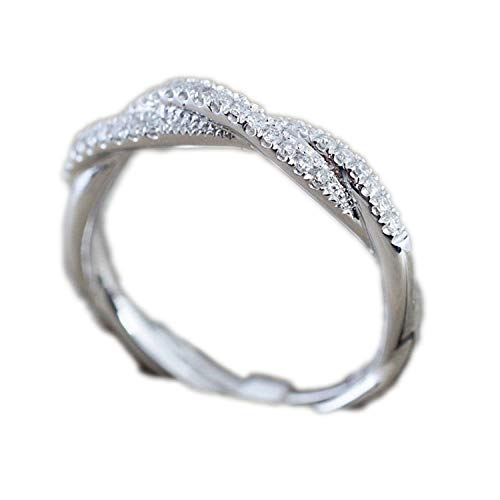 2f9e4622a256d freedom-only Pattern Twisted Rope Hemp Flowers Ring Plating Rose Gold  Silver Micro Cubic Zirconia Tail Ring Fashion Women's Jewelry,8,Gold