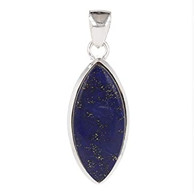 Idée cadeau Maman-Pierre de lapis lazuli naturelle-Pendentif violet Forme amande-femme