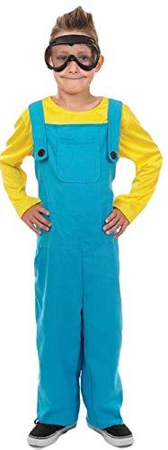 Jungen-Kostüm 'Minion' aus Ich-Einfach Unverbesserlich - Buchtag/Halloween/Karneval - Größen 116-152 - Blau, 10-12 Jahre (152) (Minions Kostüm Für Jungen)