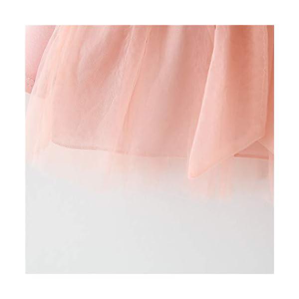 Vestido 6-18 Meses Tutú para Bebé Malla Vestidos para Niñas Princesa Falda de Tul de Fiesta con Bowknot Pompón Piel… 5