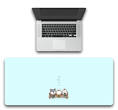 SonMo Mousepad Gaming Mauspad Rutschfest Matte Large Size XL Gummi Corgi Textiloberfläche Mouse Mat Multicolor für Alle Gängigen Mouse Typen 400x900x3MM