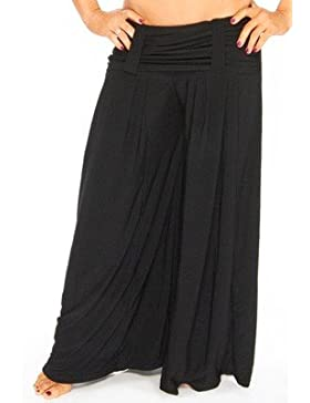 The Turkish Emporium Harén pantalones con pasador para el cinturón para Danza del Vientre Yoga Pilates Stretch...