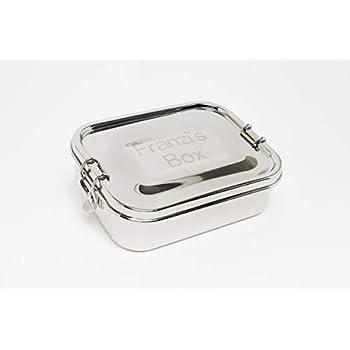 Rominox Lunchbox mit persönlicher Laser-Gravur Brotdose