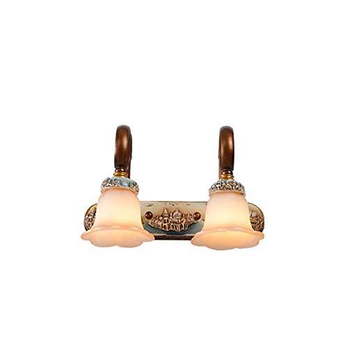 ZGYQGOO LED Wandleuchten Wandleuchte Leuchte Up Down WandbeleuchtungBevor der Badezimmerspiegel leuchtet Badezimmerspiegel Kabinett Licht Antikes Badezimmer Vanity Lights Licht Anti-Fog Lights -