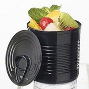 25 mini verrines platisques - Boîte de conserve NOIRE