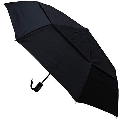 Collar and cuffs london - 80 km/h antivento e robusto - struttura rinforzata con fibra di vetro - ventilato doppio calotta - ombrello pieghevole - automatico apri e chiudi- da viaggio - nero