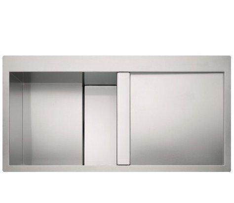 Franke CLV-614-I – Fregadero (Fregadero bajo encimera de cocina, Plaza, Acero inoxidable, Color blanco, 1 senos, 470 mm)