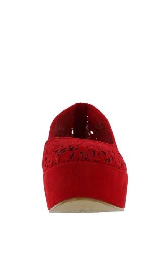 Iron Fist Skull It Out Flatform, Sandales Plateforme femme Rouge - Rouge