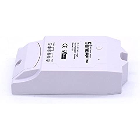 Aihasd Sonoff TH 16A WiFi Wireless Smart Switch Temperature and Humidity Monitoring Thermostat for Smart