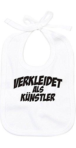 ShirtInStyle Babylatz Babylätzchen Karneval verkleidet als Künstler, Kostüme verkleiden, Farbe weiss