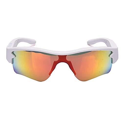 LFF SPORT Intelligente Brille Polarisierte Drahtlose Bluetooth Kopfhörer Sonnenbrille Musik Freisprech Sportbrillen für Bluetooth-Gerätetelefon + Gratis Austauschbare 3 Paar Objektiv,B