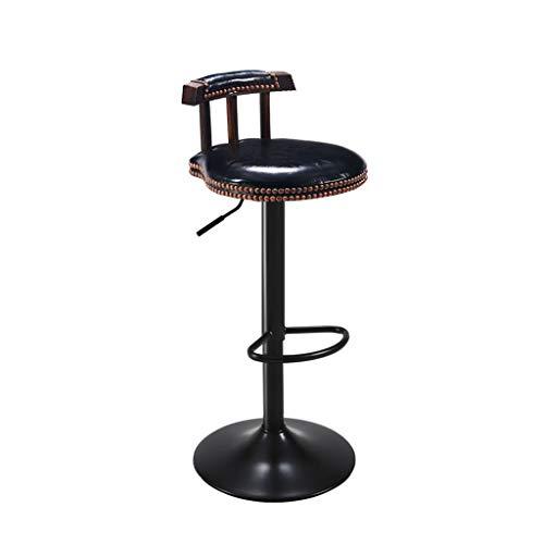 Retro-stil-barhocker (ZUOANCHEN Barhocker Drehen Sessellift Hoher Hocker Retro Europäischer Stil Rezeptionsstuhl Registrierkasse Stuhl Höhenverstellbar 60-80CM (Farbe : SCHWARZ))