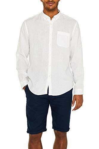 ESPRIT Herren 049Ee2F007 Freizeithemd, Weiß (White 100), Medium (Herstellergröße: M)
