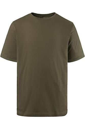 JP 1880 Herren große Größen bis 8XL, T-Shirt, JP1880-Motiv auf der Brust, Basic-Shirt, Rundhalsausschnitt, Reine Baumwolle, Khaki 4XL 702558 44-4XL
