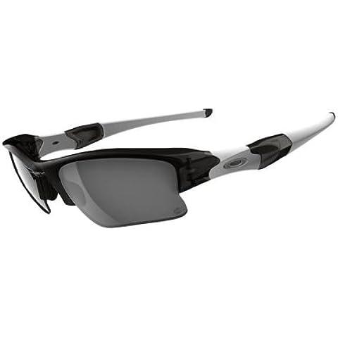 Oakley, Occhiali da sole sportivi, lenti fotocromatiche, Grigio (Grysmk W/Clrblkiridphoto), Taglia unica