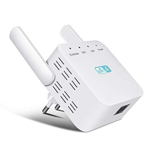 Getue Répéteur WiFi Amplificateur WiFi 300Mbps 2,4GHz WiFi Extender WiFi Booster avec 2 Antennes Externes,Compatibilité...
