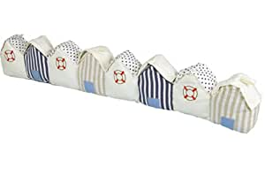 Interior Draught Excluder - Stripey Beach Huts by Hanah