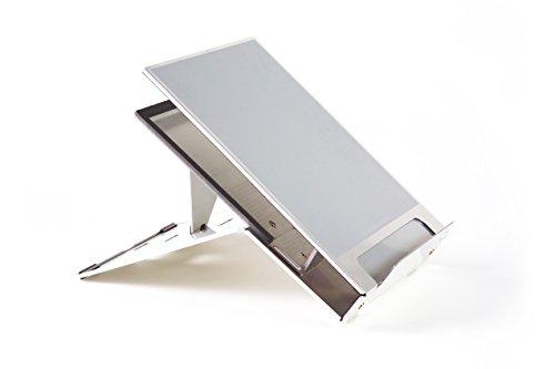 BakkerElkhuizen BNEQ260 Ergo-Q 260 mobiler Halter mit integrierter Dokumentenhalter für Laptop bis 39,6 cm (15,6 Zoll) (Ergo-bad)