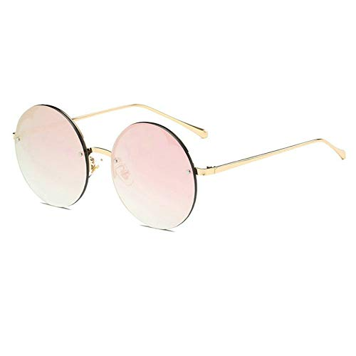 GBST Sunglasses Women's Trend Personality Round Marine Sunglasses Style Sunglasses Men's Fashion,Gold pink