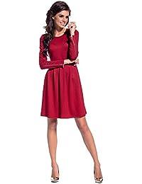 b34e0a1980ea Amazon.it  miniabito inverno - Rosso   Donna  Abbigliamento