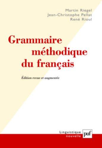 Grammaire mthodique du franais