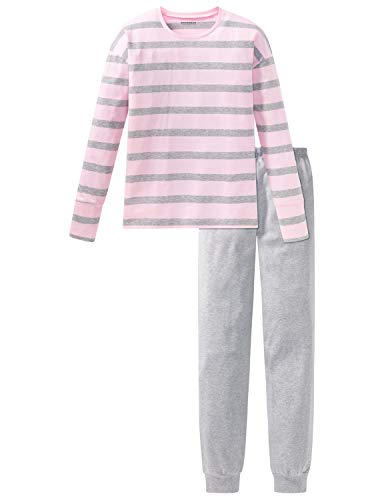 Schiesser Mädchen Anzug lang Zweiteiliger Schlafanzug, Grau (Grau-Mel. 202), (Herstellergröße: 176)