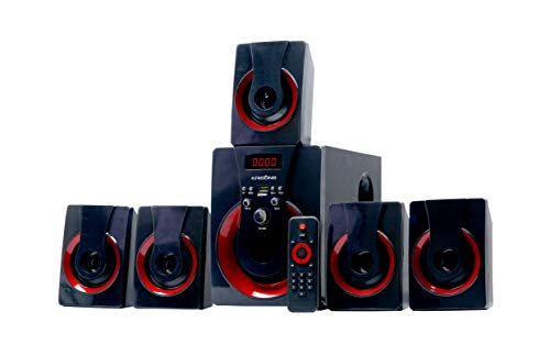 Krisons Redblast 5.1 Home Theater Speaker System with FM,USB,AUX and Bluetooth Function