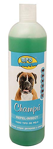 BPS Champú con Efecto Repelente de Insectos para Todo Tipo de Pelo, Shampoo para Perro, Cachorro, Mascotas Perros Animales Domésticos 750 ML (Efecto Repelente de Insectos) BPS-4261
