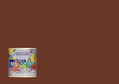 Peinture Exterieur Chocolat - DECOHOM Peinture Murale monocouche Satin 0,5 L