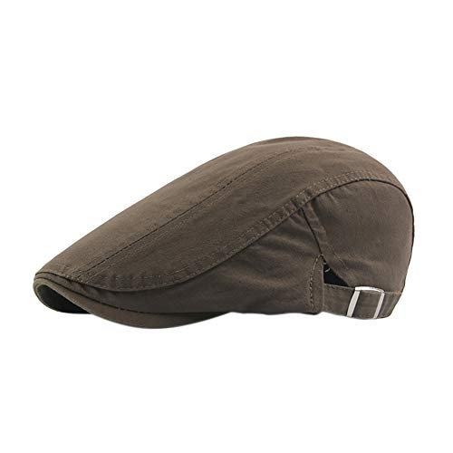 Cosanter 1pcs Baskenmützen Barette für Herren Accessoires Schirmmütze Golf Flache Kappe Gatsby Sport Camping Outdoor Beige (Army Green)
