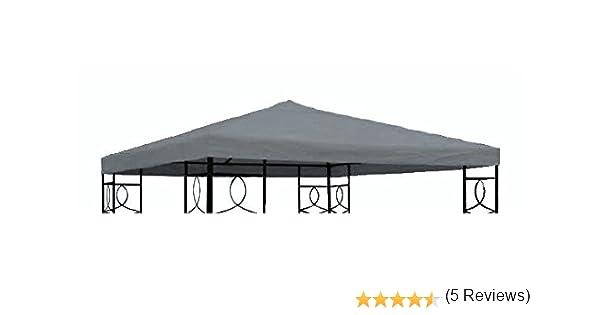 Pavillon Ersatzdach 3x3 PVC # anthracite # étanche-pavillondach toit toits