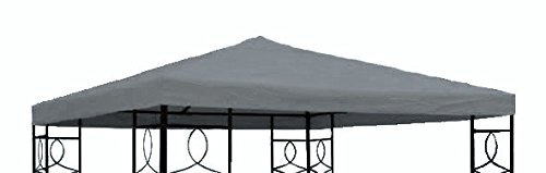 Spetebo Pavillon Ersatzdach 3x3 Meter - anthrazit - wasserabweisend - Pavillondach Sonnenschutz Pavillon Dach