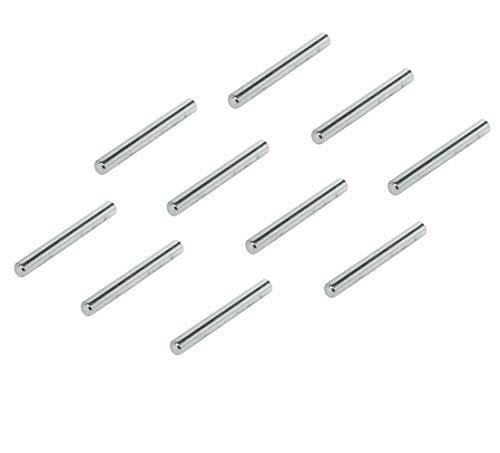 Gedotec Regal-Dübel Küche Fach-Bodenträger zum Befestigen Regal-Bolzen zum Einstecken - H3125 | 45 mm | Stahl vernickelt | 50 Stück