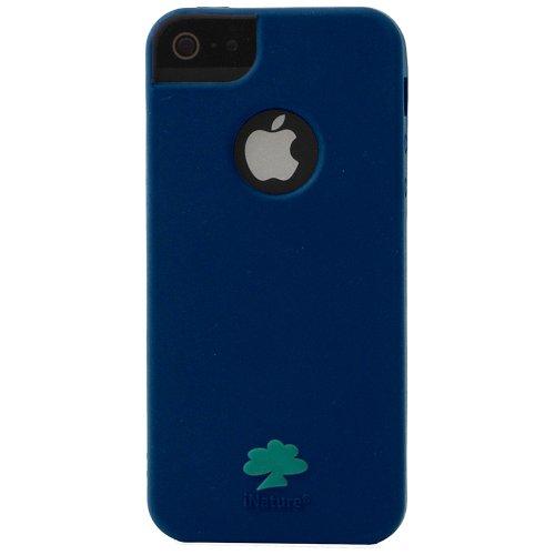 inature-insoft5obt-cover-soft-per-iphone-5-5s-blu-con-albero-verde