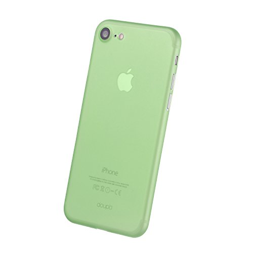 doupi UltraSlim Case iPhone 8 / 7 ( 4,7 pouces ) [ Chargeur sans fil pris en charge ] fin mat ultra mince et ultra léger Bumper Cover Housse de Protection Shell Coque - noir Vert