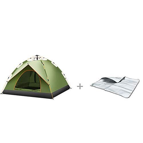 DDSGG Vollautomatisches, Hydraulisches, Wasserdichtes Zelt Für Den Außenbereich. Großes, Atmungsaktives Anti-UV-Wigwam Mit Feuchtigkeitspad
