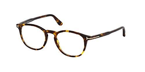 Tom Ford Unisex-Erwachsene Ft5401 Brillengestelle, Braun (Avana SCURA), 49