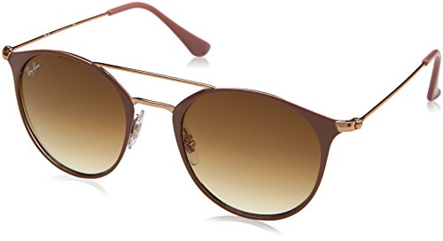 RAYBAN JUNIOR Unisex-Erwachsene Sonnenbrille RB3546 Copper Top On Beige/Cleargradientbrown 49
