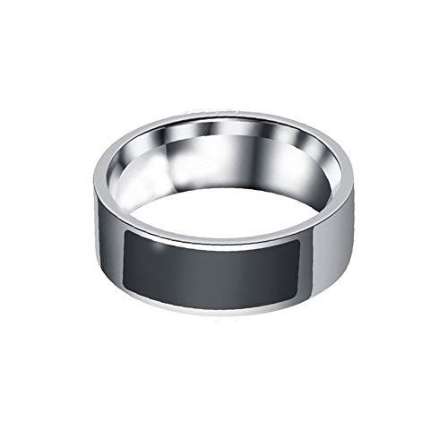 8Eninine NFC Smart Ring Charming Smart Wear Ring Smart Access Türschalter Controller Schwarz Size9