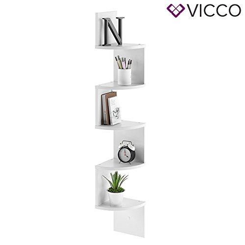 VICCO Eckregal SNAKE Weiß - Hängeregal Wandregal Bücherregal Regal Design Test