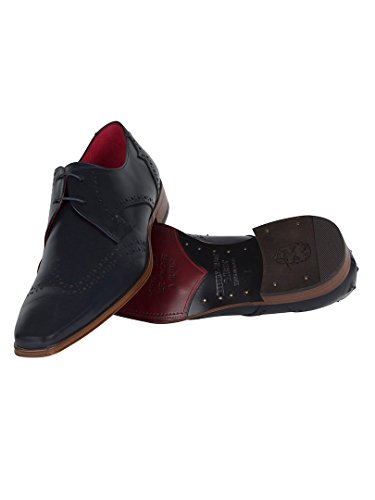 Jeffery West Homme Scarface Calf Chaussures, Bleu Bleu