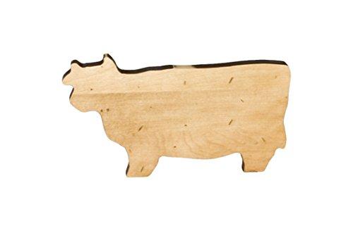 J.K. Adams Cow Novelty Serving Board, Mini, Maple -