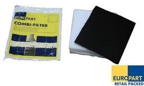 Kit combiné Filtre Hotte graisse et filtre à odeur en mousse de type universel