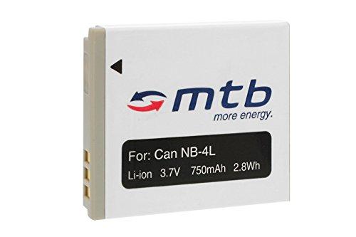 Batteria NB-4L per Canon IXUS 30, 40, 50, 55, 60, 65, 70, 75, 80 IS, 100 IS