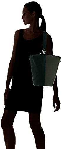 Chicca Borse Damen 8890 Schultertasche, 31x33x16 cm Verde (Verde)