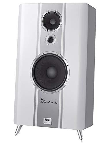 HECO Direkt Dreiklang, Weiss - High End Lautsprecher für große Räume und hohe Lautstärken, 600 Watt, UVP 5.000,00, Stückpreis