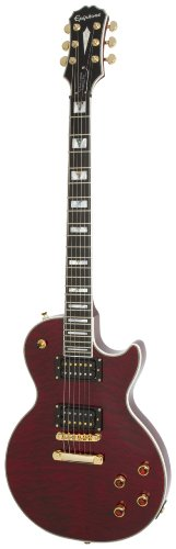 Epiphone Prophecy Les Paul Custom Plus GX Chitarra elettrica (Gibson 498T/490R), Rosso (Black Cherry)