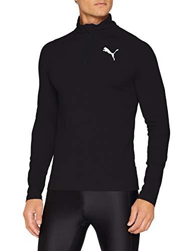 PUMA Herren Active Half Zip Sweatshirt, Black, XL -