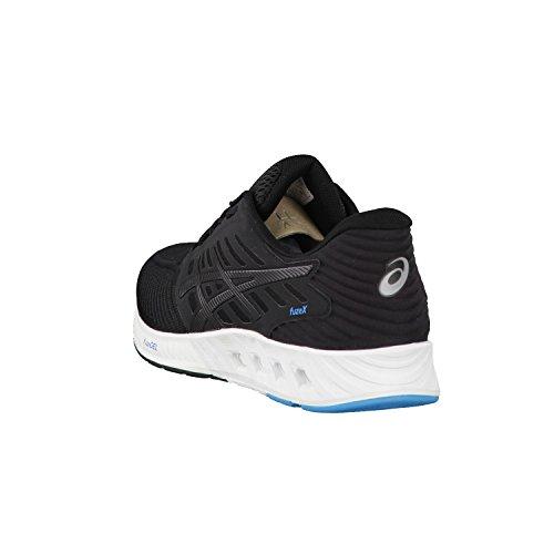 asics fuzeX - Chaussures de running - bleu 2016 Black/Black/Island Blue
