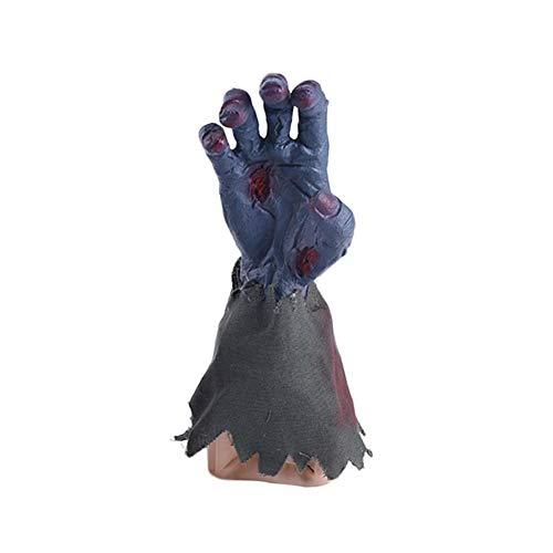 Halloween-Geister-Hand mit gruseligen Sound Party Requisiten Dekoration Elektrische Musik singende Geister-Hand, grau